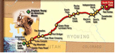 Ole's Route to the Salt Lake Valley