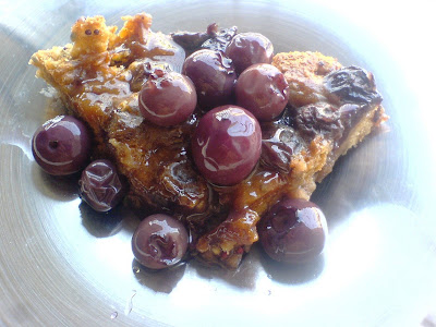 Blueberry, Vanilla, and Bread Pudding - Eggless, Flourless and Vegan