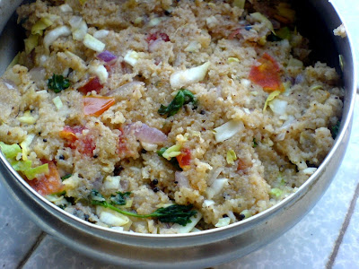 Cabbage, Onion, Tomato Upma