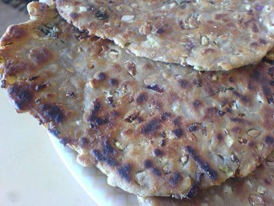 Cabbage and Sunflower Seed Parathas