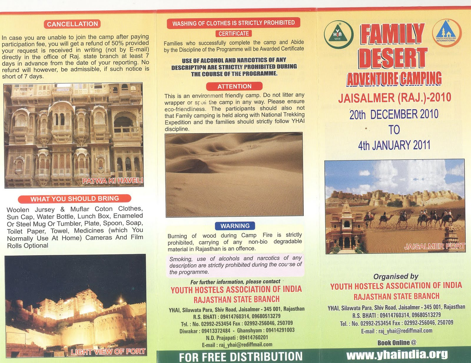 family camping at jaisalmer rajasthan