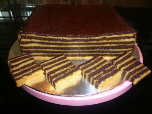 resepi kek lapis horlick, cara membuat kek lapis horlick