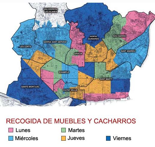 Vivir en Barcelona: Muebles gratis