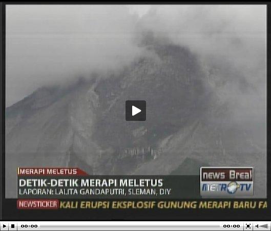 Video detik-detik Gunung Merapi Meletus (2010-10-26)