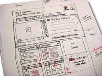 Prototipo en papel de Vimeo.com