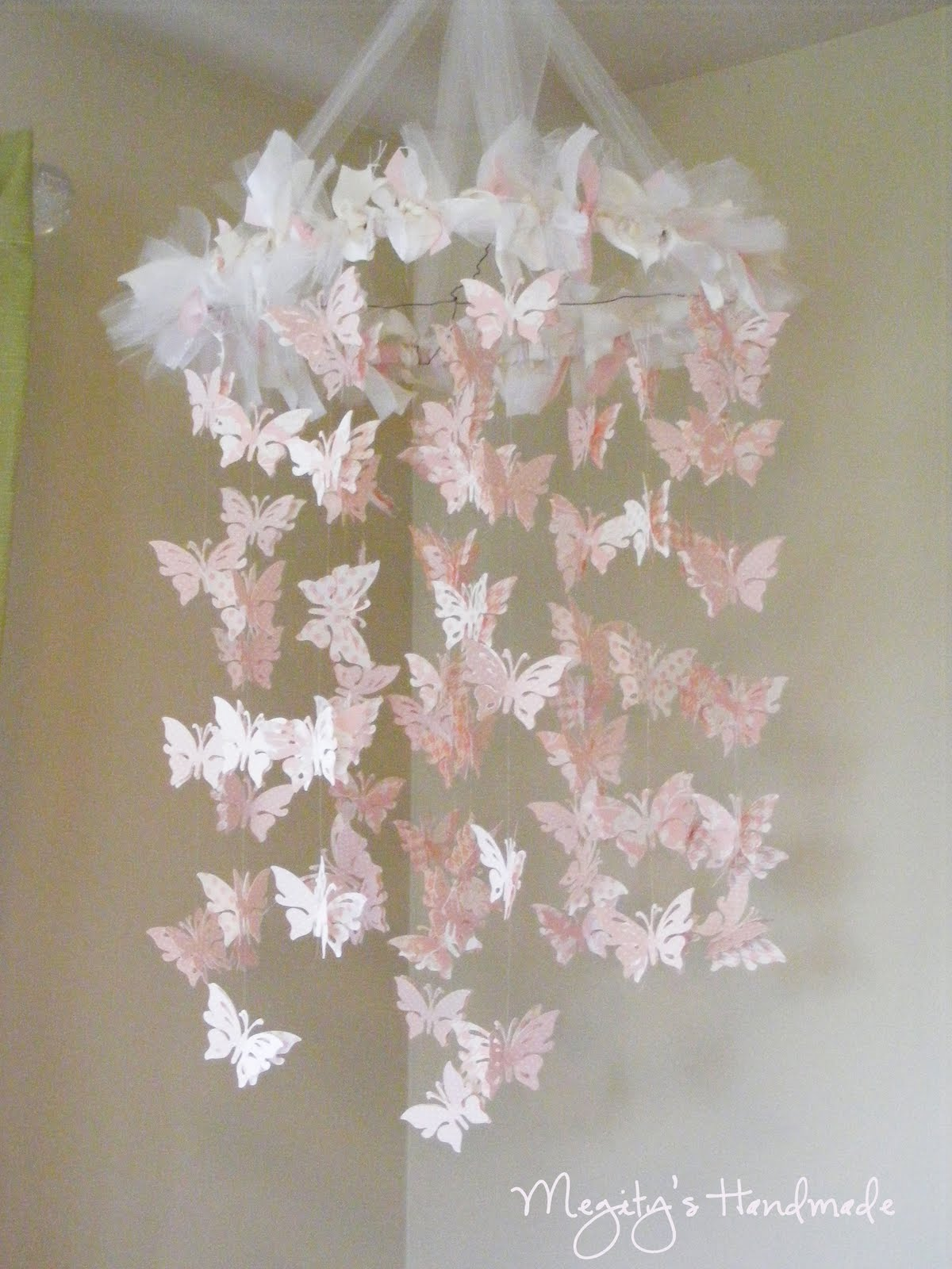 megity 39 s handmade butterfly chandelier mobile