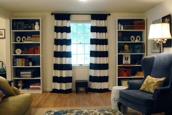 Megity s handmade wide striped drapes