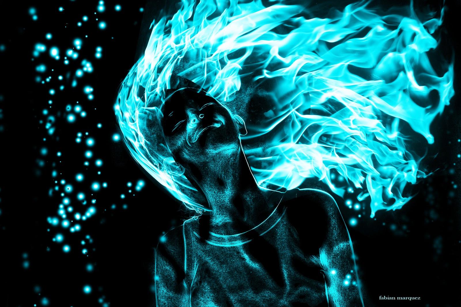 resultado final, mujer en llamas