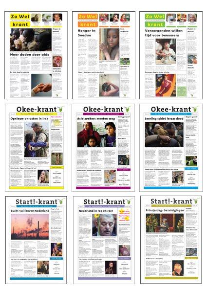 layout dtp grafische producties lay out en dtp voor start zo wel en okee krant