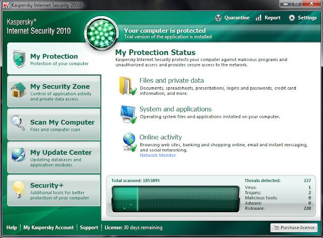 Антивирусное защитное ПО Kaspersky Lab Internet Security 2010 FR.