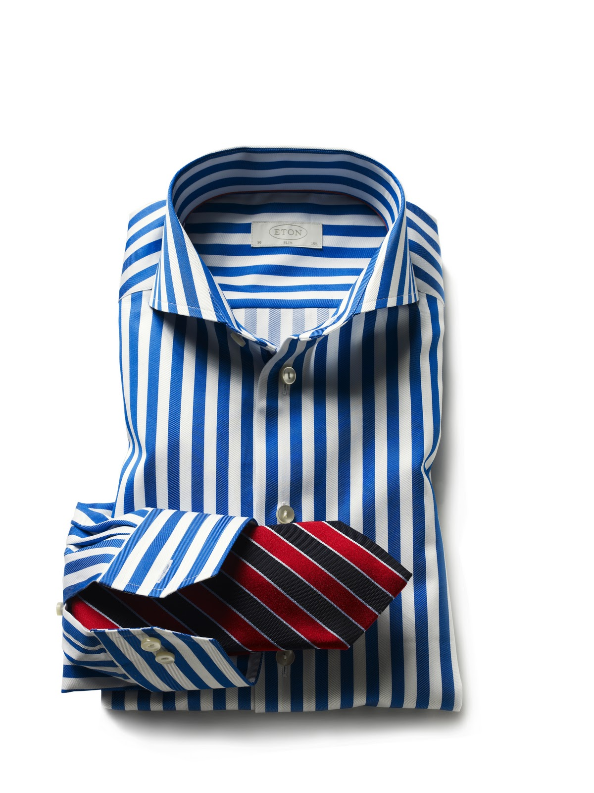 Men 39 s styling shirt tie the dramatic look for Striped shirt with tie