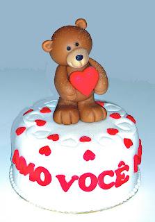 bolo minibolo ursinho apaixonado dia dos namorados dia das mães
