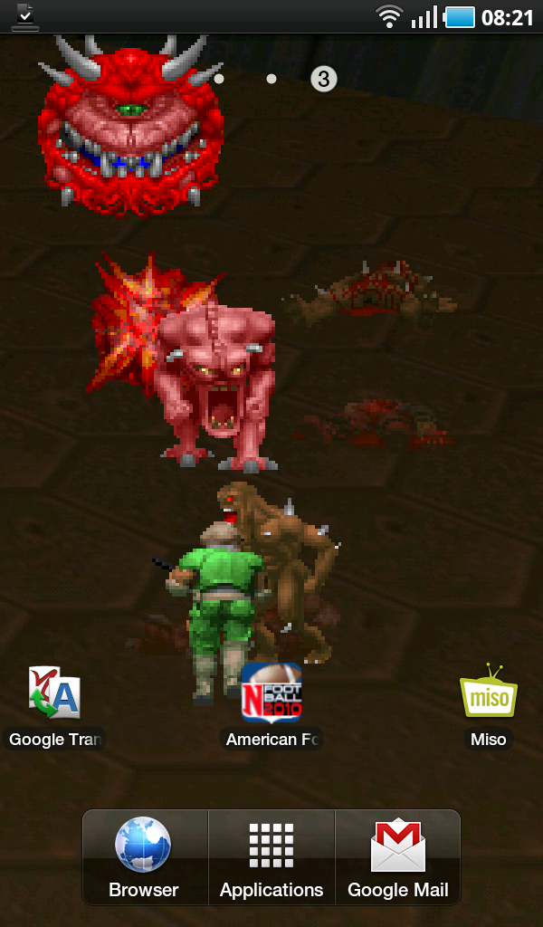 droyd cantina doom live wallpaper puts some gore on your