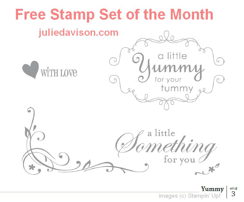 Free Stamp Set Of The Month Yummy
