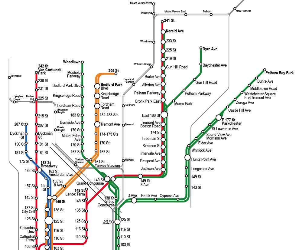 4 5 6 Subway Map
