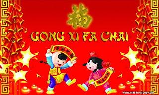 kartu ucapan imlek, imlek, Gong Xi Fai Cai