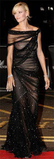 Uma Thurman wearing see-through dress