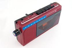 pitch bent Cassette player