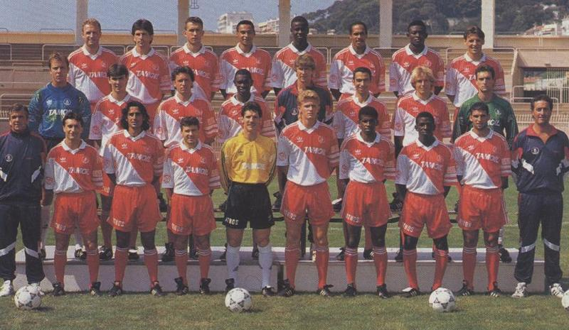 Sezona 1992/93 (Champions League, UEFA Cup, Cup Winner's Cup) Football+AS+Monaco+1992-1993