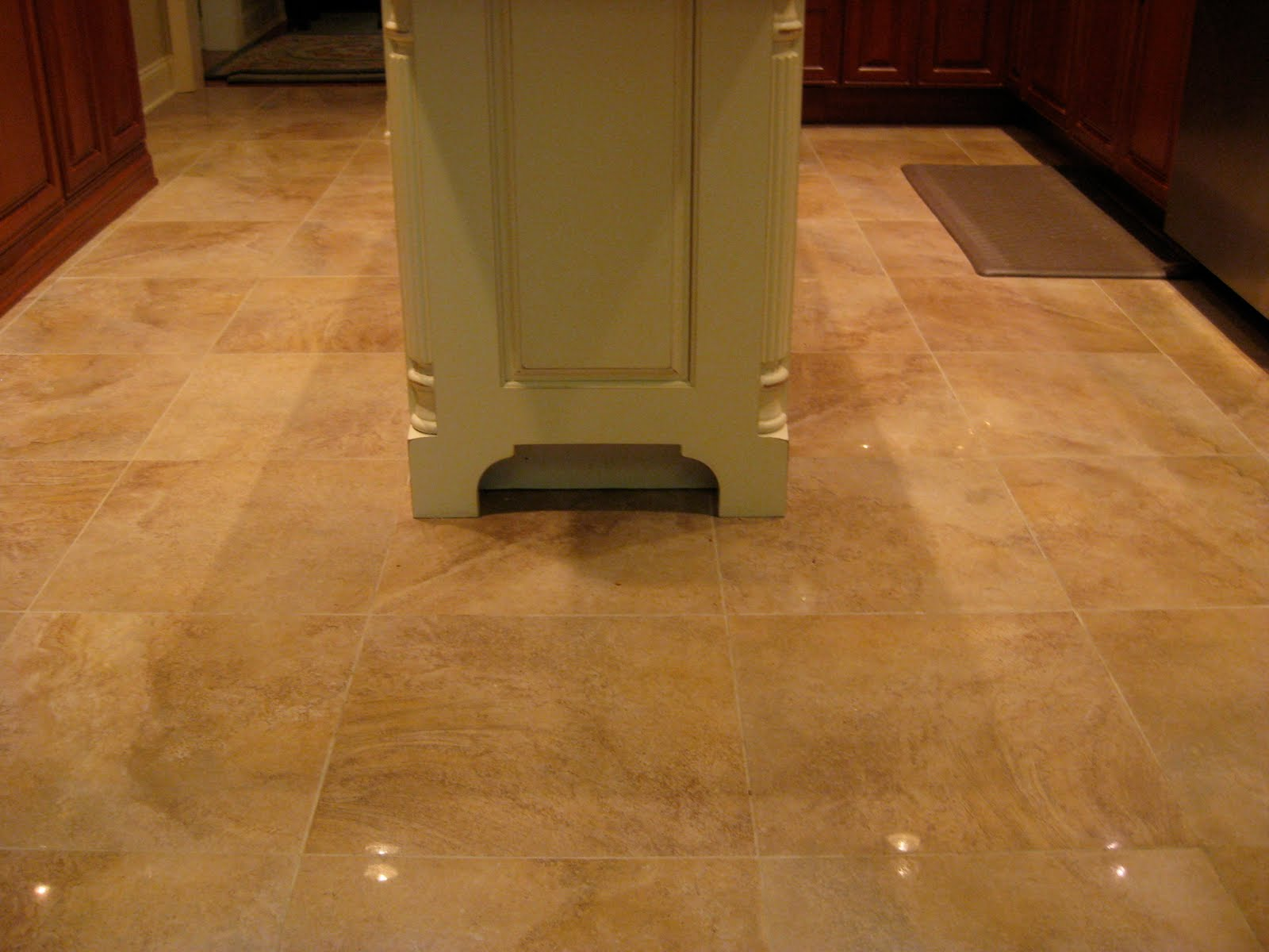 Elegance meets functional in kitchen flooring and for Hardwood floors too shiny
