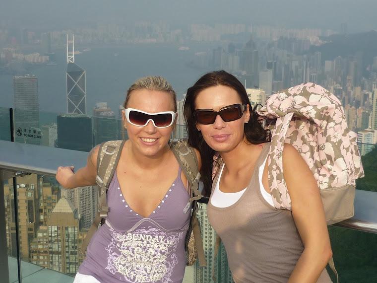 Panorama z wyspy Hong Kong z Victoria Peak