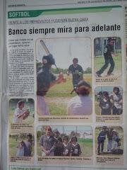 Softbol en Diario El Día