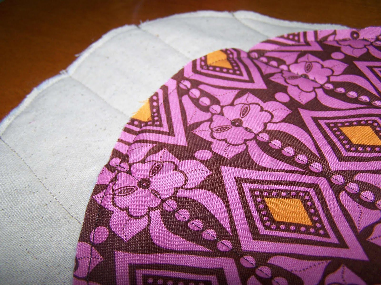 Fabric Plate Warmer ~ Made by me shared with you tortilla cozy tutorial