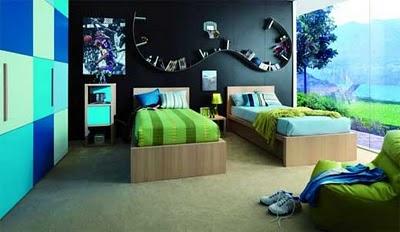 Dormitorios fotos de dormitorios im genes de habitaciones y rec maras dise o y decoraci n 5 - Entrancing images of blue and black bedroom decoration ideas ...