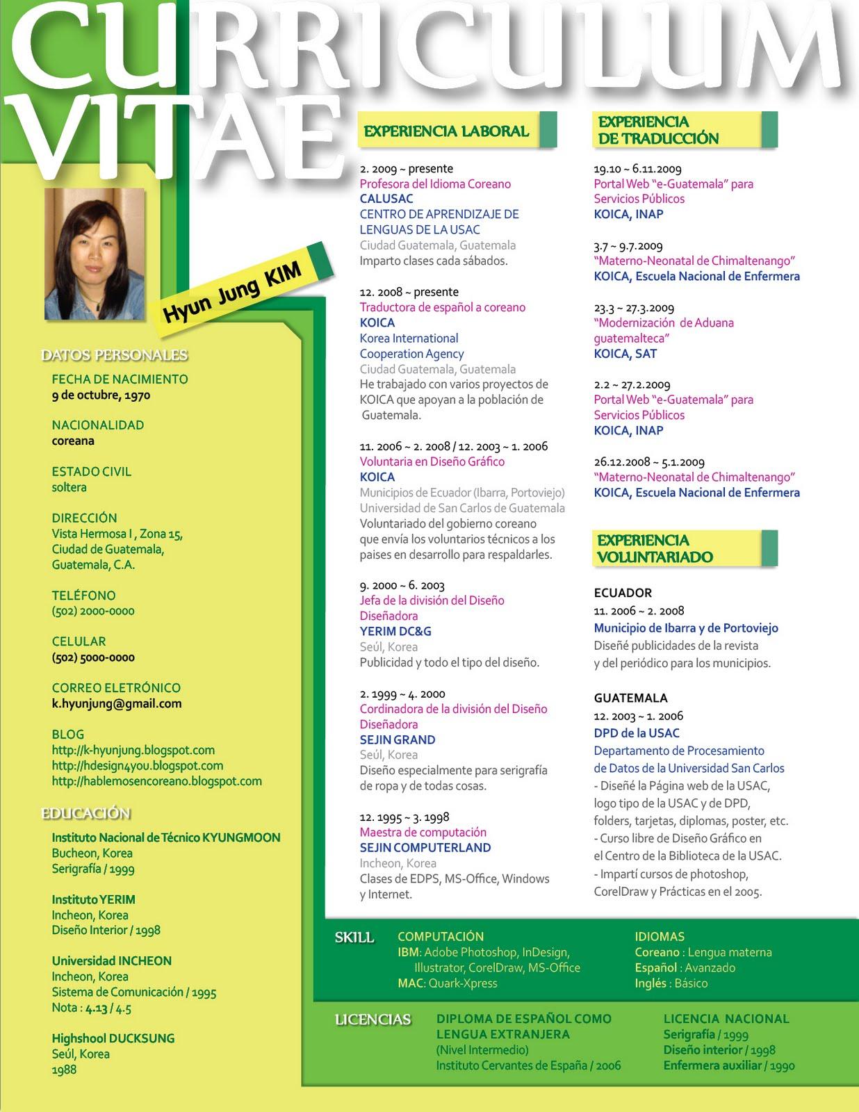 CV3 Ejemplos de Cv