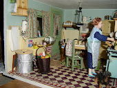 Wartime Kitchen, note the old ascot and the clothes boiler.