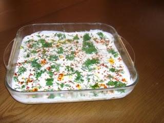 Kabak salatasi ve tavuklu salata