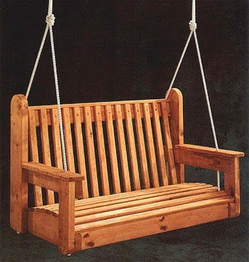 Porch swing free woodworking project plans for Woodworking plans porch swing