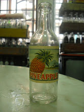 SODA BOTTLE PINEAPPLE PAPER LABLE 200ML