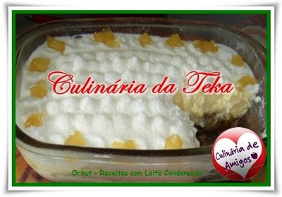 Torta gelada de abacaxi Ingredientes do Creme: