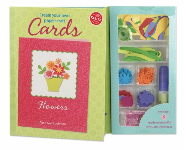 own papercraft cards with the Flowers Card Making Kit from Klutz Paper Crafts Card Making