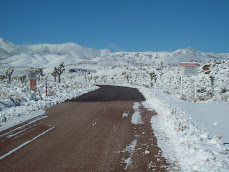 Winter on Groom Lake Road