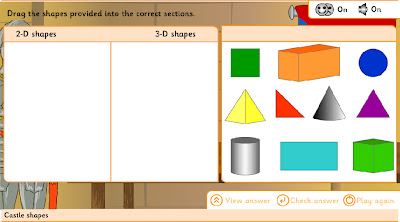 Technology rocks seriously 2d and 3d shapes castle shapes 2 identifying shapes and sorting on venn diagram ccuart Image collections