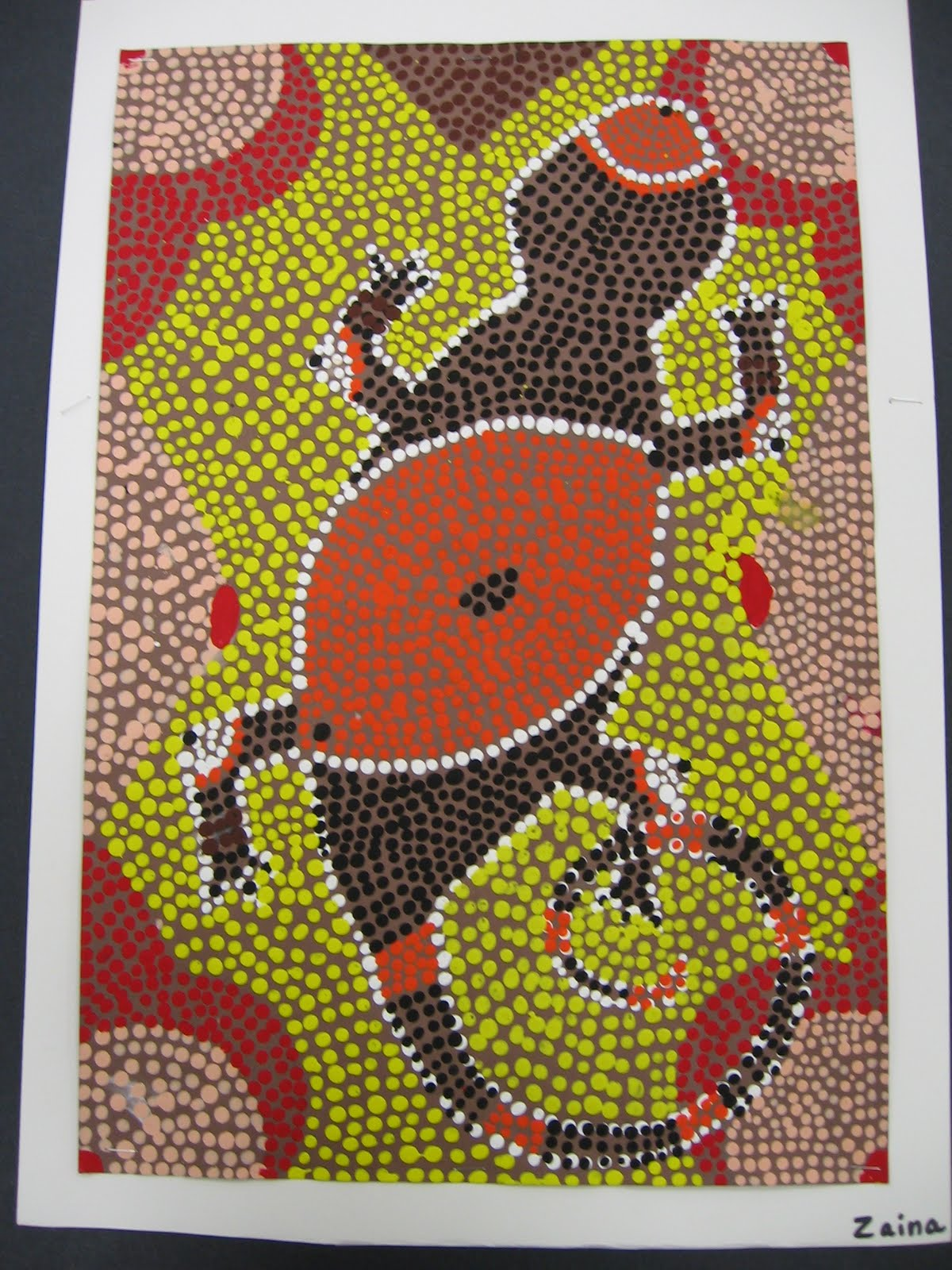 Aboriginal Dot Paintings Animals http://artolazzi.blogspot.com/2009/11/aboriginal-lizards.html