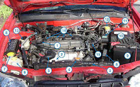 How-To Matthew: Under the Hood: 1999 Nissan Altima 2.4L | 99 Nissan Altima Engine Diagram |  | How-To Matthew - blogger
