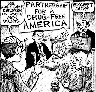 שותפות לסמים חופשיים באמריקה - קריקטורה