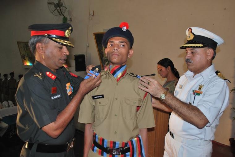 School Vice Captain Prabhudev V Hiremath