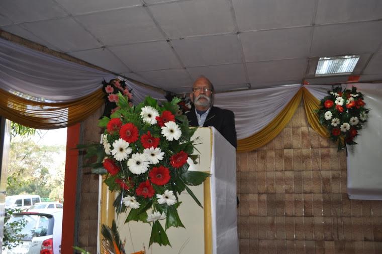 Air Commodore Arun Joshi,former Principal SSBB, addressing