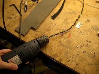 ben krasnow making twisted wiring harnesses with a hand drill rh benkrasnow blogspot com making a boat wiring harness making a wiring harness motorcycle