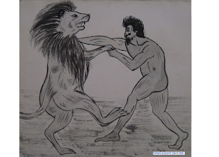 Lion fight with man - photo#10