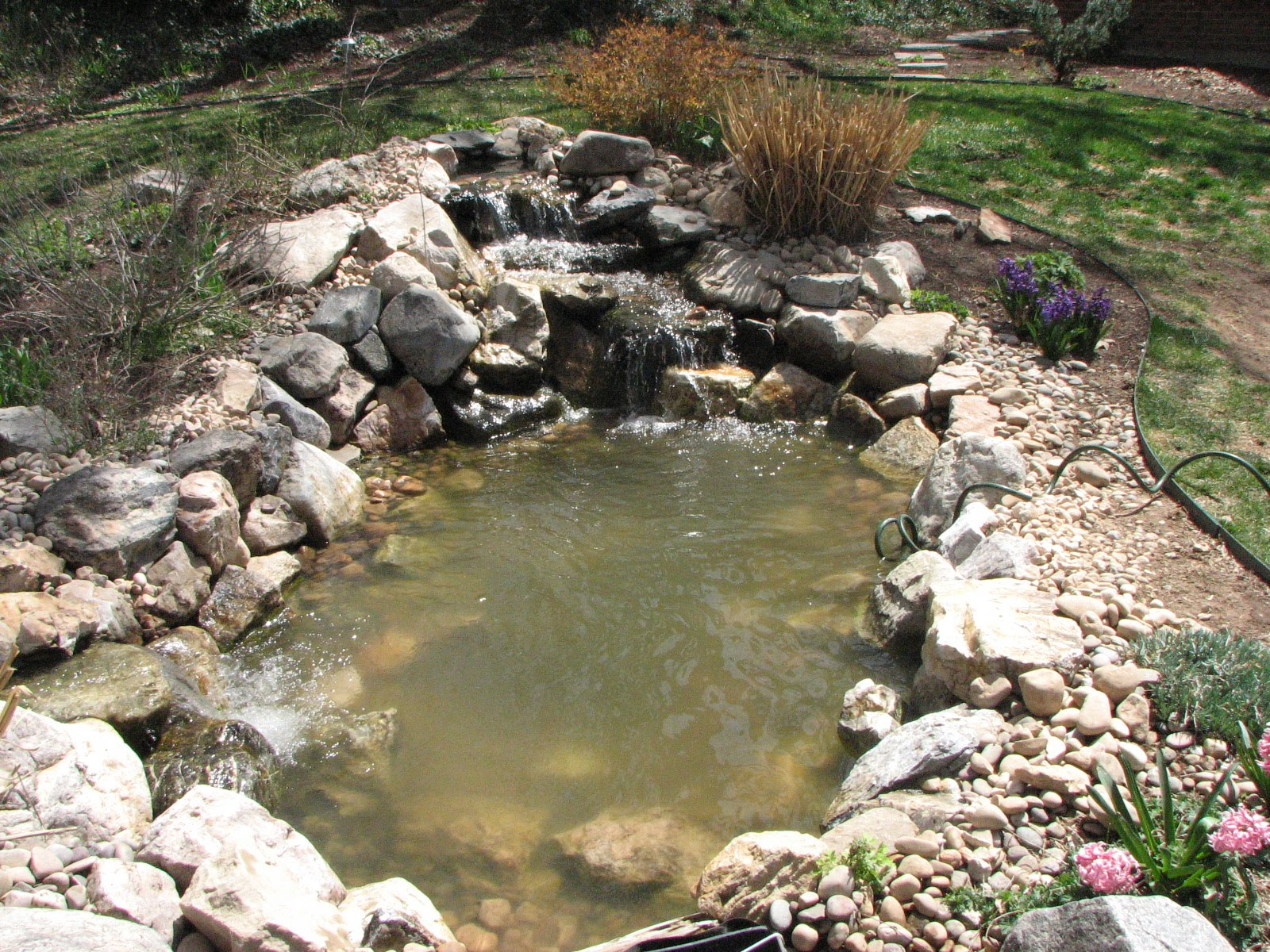 Kbt waterfalls 10 x 8 pond double waterfalls Waterfall for ponds