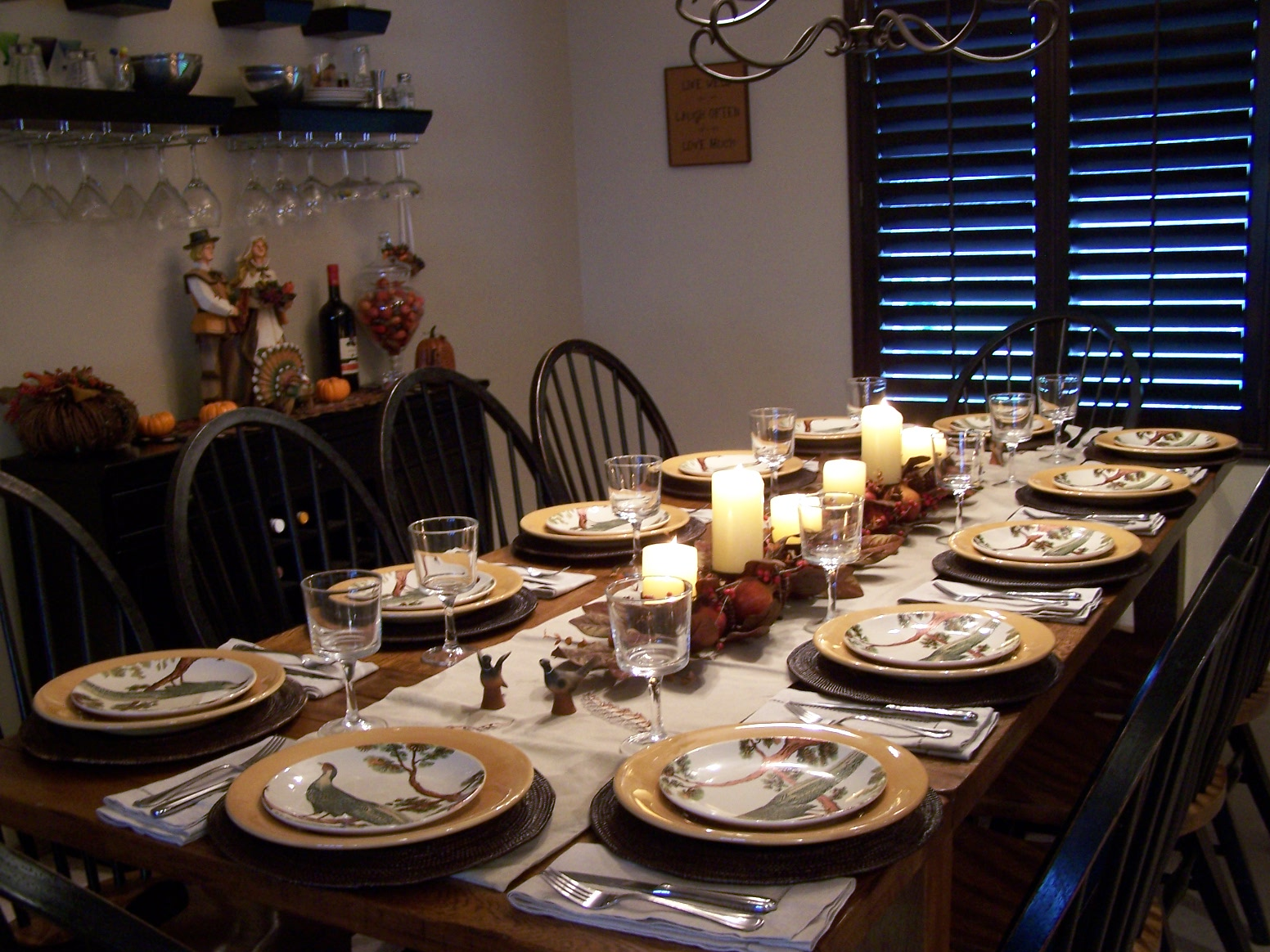 Allyson jane thanksgiving dinner from scratch for Dining room table setup ideas