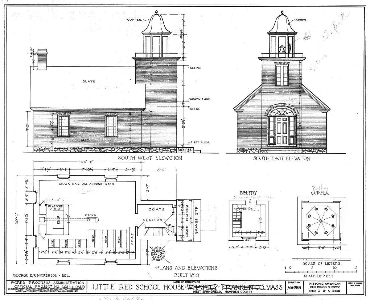 old school house plans