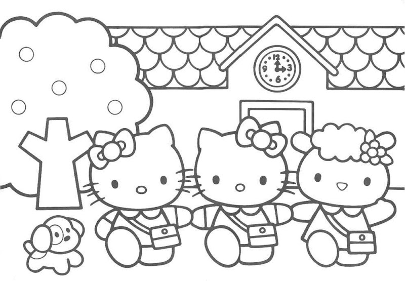 Hello kitty coloring page picture 2 title=
