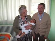 La bisabuela Vitoria y el bisuabuelo Angel