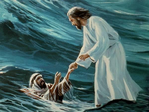 Jesus Peter Walking On Water
